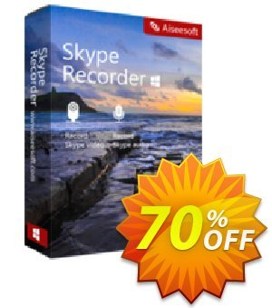Skype Recorder Coupon discount 40% Aiseesoft. Promotion: