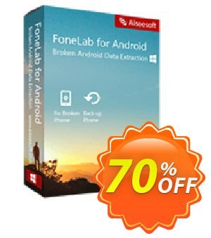 FoneLab Broken Android Data Extraction Coupon discount 40% Aiseesoft Fonelab Android. Promotion: 40% Aiseesoft fonelab Coupon code