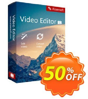 Aiseesoft Video Editor for Mac Coupon, discount 40% Aiseesoft. Promotion: 40% Aiseesoft Coupon code