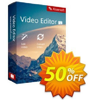 Aiseesoft Video Editor for Mac discount coupon 40% Aiseesoft - 40% Aiseesoft Coupon code