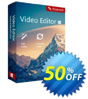 Aiseesoft Video Editor Coupon, discount 40% Aiseesoft. Promotion: 40% Aiseesoft Coupon code