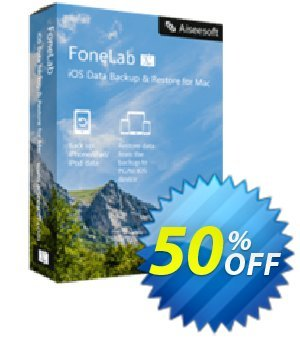 Mac FoneLab - iOS Data Backup & Restore discount coupon 40% Aiseesoft - 40% Aiseesoft Coupon code