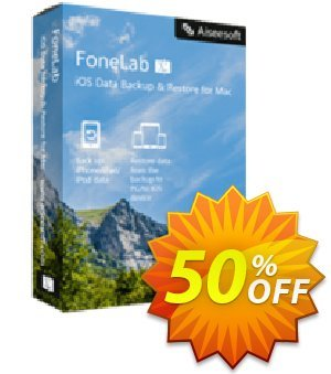 Mac FoneLab - iOS Data Backup & Restore Coupon, discount 40% Aiseesoft. Promotion: 40% Aiseesoft Coupon code
