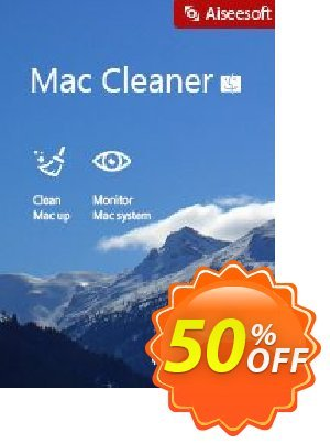 Mac Cleaner Coupon, discount 40% Aiseesoft. Promotion: 40% Aiseesoft Coupon code