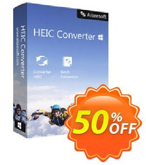 HEIC Converter Coupon, discount 40% Aiseesoft. Promotion: 40% Aiseesoft Coupon code