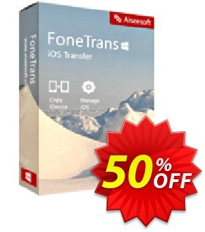 FoneTrans Commercial License Coupon, discount 40% Aiseesoft. Promotion: 40% Aiseesoft Coupon code