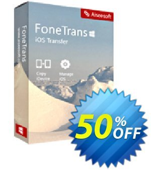 FoneTrans Commercial License Coupon discount 40% Aiseesoft. Promotion: 40% Aiseesoft Coupon code
