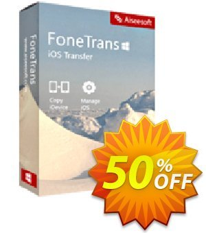 Mac FoneTrans Commercial License Coupon, discount 40% Aiseesoft. Promotion: 40% Aiseesoft Coupon code
