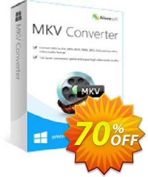 Aiseesoft MKV Converter 優惠券,折扣碼 40% Aiseesoft,促銷代碼: 40% Off for All Products of Aiseesoft