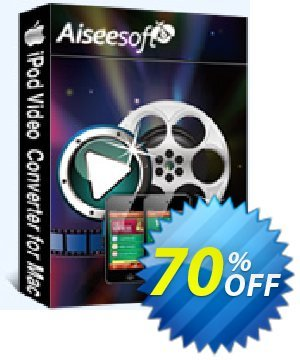 Aiseesoft iPod Video Converter for Mac Coupon discount Aiseesoft iPod Video Converter for Mac hottest promo code 2020 - 40% Off for All Products of Aiseesoft