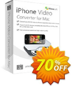 Aiseesoft iPhone Video Converter for Mac Coupon discount 40% Aiseesoft - 40% Off for All Products of Aiseesoft