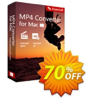Aiseesoft MP4 Converter for Mac 優惠券,折扣碼 40% Aiseesoft,促銷代碼: 40% Off for All Products of Aiseesoft