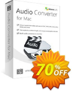 Aiseesoft Audio Converter for Mac 優惠券,折扣碼 40% Aiseesoft,促銷代碼: 40% Off for All Products of Aiseesoft