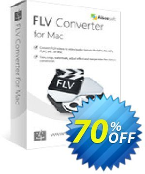 Aiseesoft FLV Converter for Mac Coupon, discount 40% Aiseesoft. Promotion: 40% Off for All Products of Aiseesoft