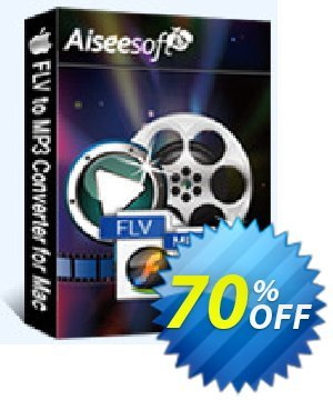 Aiseesoft FLV to MP3 Converter for Mac Coupon discount Aiseesoft FLV to MP3 Converter for Mac imposing discounts code 2019. Promotion: 40% Off for All Products of Aiseesoft
