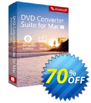 Aiseesoft DVD Converter Suite for Mac Coupon discount 40% Aiseesoft. Promotion: