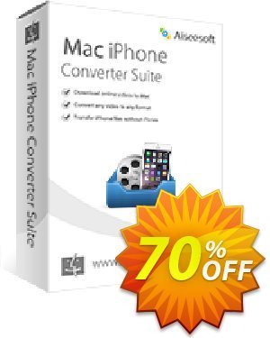 Aiseesoft Mac iPhone Converter Suite 프로모션 코드 40% Aiseesoft 프로모션: