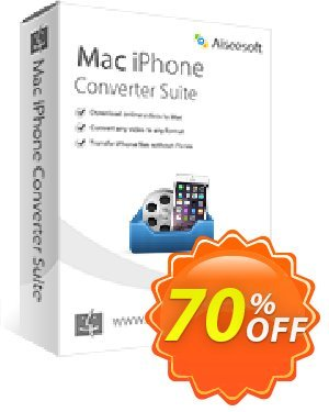 Aiseesoft Mac iPhone Converter Suite Coupon, discount 40% Aiseesoft. Promotion: