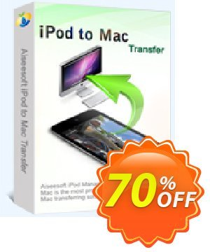 Aiseesoft iPod to Mac Transfer Coupon, discount 40% Aiseesoft. Promotion: