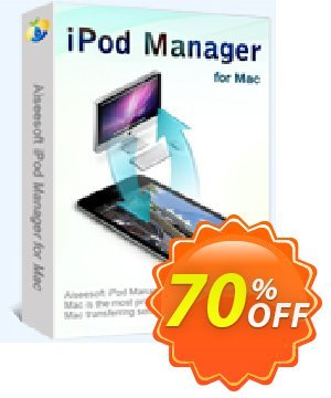 Aiseesoft iPod Manager for Mac 優惠券,折扣碼 40% Aiseesoft,促銷代碼: 40% Off for All Products of Aiseesoft