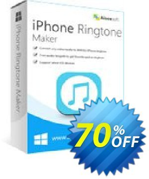 Aiseesoft iPhone Ringtone Maker Coupon, discount 40% Aiseesoft. Promotion: 40% Off for All Products of Aiseesoft