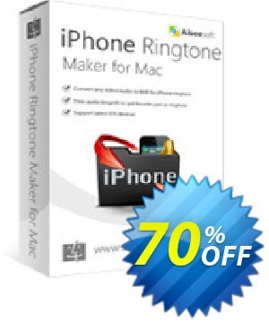 Aiseesoft iPhone Ringtone Maker for Mac Coupon, discount 40% Aiseesoft. Promotion: 40% Off for All Products of Aiseesoft