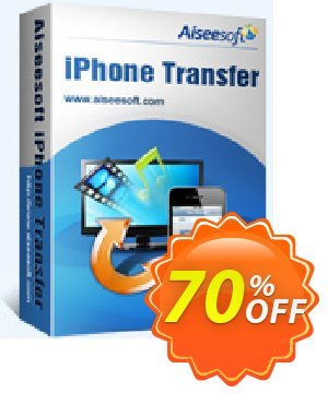 Aiseesoft iPhone Transfer Coupon, discount 40% Aiseesoft. Promotion: