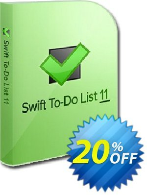 Swift To-Do List (11-25 users) discount coupon 20% OFF Swift To-Do List (11-25 users), verified - Wondrous deals code of Swift To-Do List (11-25 users), tested & approved