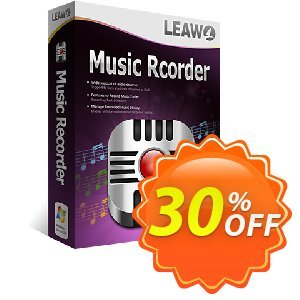 Leawo Music Recorder Lifetime Coupon discount Leawo coupon (18764) - Leawo discount