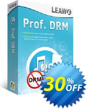 Leawo Prof. DRM Coupon, discount Leawo coupon (18764). Promotion: Leawo discount