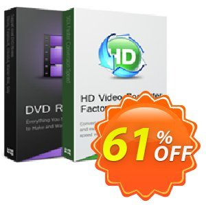 DVD Ripper Pro + HD Video Converter Factory Pro Lifetime License (Discount pack) discount coupon 61% OFF DVD Ripper Pro + HD Video Converter Factory Pro Lifetime License (Discount pack), verified - Exclusive promotions code of DVD Ripper Pro + HD Video Converter Factory Pro Lifetime License (Discount pack), tested & approved