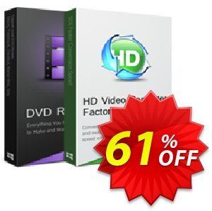 HD Video Converter Factory Pro (1 Year Subscription) Coupon, discount AoaoPhoto Video Watermark (18859) discount. Promotion: Aoao coupon codes discount