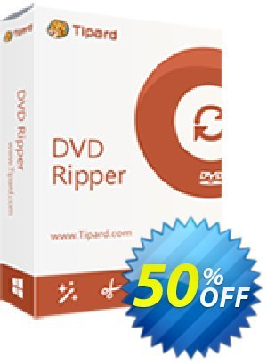 Tipard DVD Ripper Lifetime License Coupon, discount 50OFF Tipard. Promotion: 50OFF Tipard