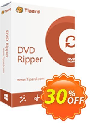 Tipard DVD Ripper Multi-User License (5 PCs) discount coupon 30% OFF Tipard DVD Ripper Multi-User License (5 PCs), verified - Formidable discount code of Tipard DVD Ripper Multi-User License (5 PCs), tested & approved