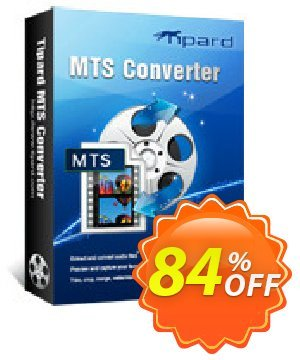 Tipard MTS Converter discount coupon Tipard MTS Converter marvelous promotions code 2021 - 50OFF Tipard