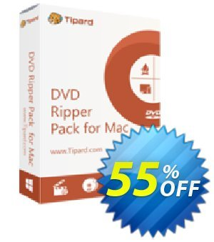Tipard DVD Ripper Pack for Mac (Lifetime) discount coupon 55% OFF Tipard DVD Ripper Pack for Mac (1 year), verified - Formidable discount code of Tipard DVD Ripper Pack for Mac (1 year), tested & approved