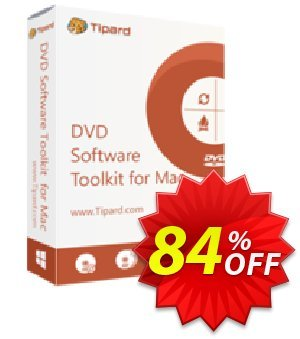 Tipard DVD Software Toolkit for Mac Coupon, discount 50OFF Tipard. Promotion: 50OFF Tipard