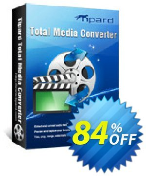 Tipard Total Media Converter Lifetime License Coupon, discount Tipard Total Media Converter super promotions code 2019. Promotion: 50OFF Tipard
