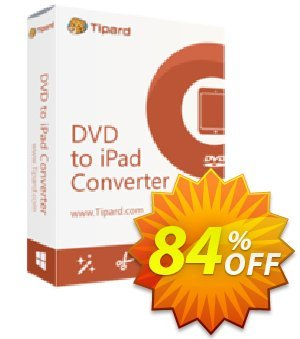 Tipard DVD to iPad Converter Lifetime License 優惠券,折扣碼 Tipard DVD to iPad Converter amazing promotions code 2020,促銷代碼: 50OFF Tipard