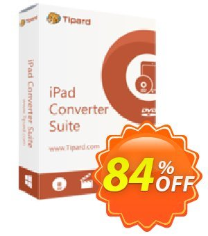 Tipard iPad Converter Suite Lifetime License Coupon, discount Tipard iPad Converter Suite super sales code 2020. Promotion: 50OFF Tipard