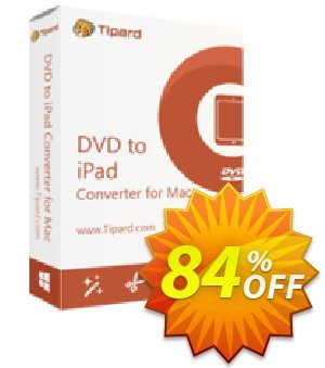 Tipard DVD to iPad Converter for Mac Coupon, discount 50OFF Tipard. Promotion: 50OFF Tipard