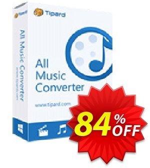 Tipard All Music Converter Lifetime License Coupon discount 50OFF Tipard - 50OFF Tipard