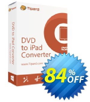 Tipard DVD to iPad 2 Converter Coupon, discount Tipard DVD to iPad Converter amazing promotions code 2019. Promotion: 50OFF Tipard