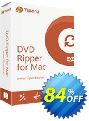 Tipard DVD Ripper for Mac Lifetime License 優惠券,折扣碼 Tipard DVD Ripper for Mac special discounts code 2019,促銷代碼: 50OFF Tipard