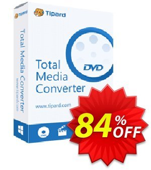 Tipard Total Media Converter Platinum Lifetime Coupon, discount 50OFF Tipard. Promotion: 50OFF Tipard