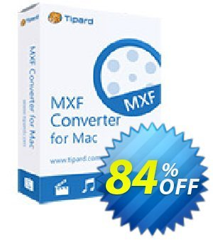 Tipard MXF Converter for Mac Lifetime License Coupon, discount 50OFF Tipard. Promotion: 50OFF Tipard