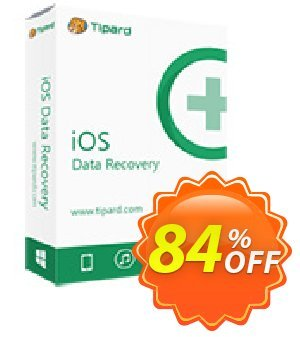 Get Tipard iOS Data Recovery Lifetime License 84% OFF coupon code
