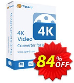 Tipard 4K Video Converter for Mac Coupon, discount 50OFF Tipard. Promotion: 50OFF Tipard