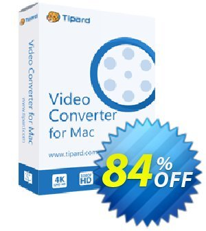 Tipard Video Converter for Mac - 1 Year discount coupon 50OFF Tipard - 50OFF Tipard
