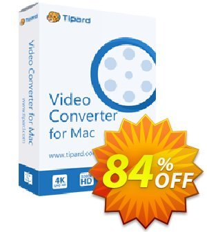 Tipard Video Converter for Mac Coupon, discount 50OFF Tipard. Promotion: 50OFF Tipard